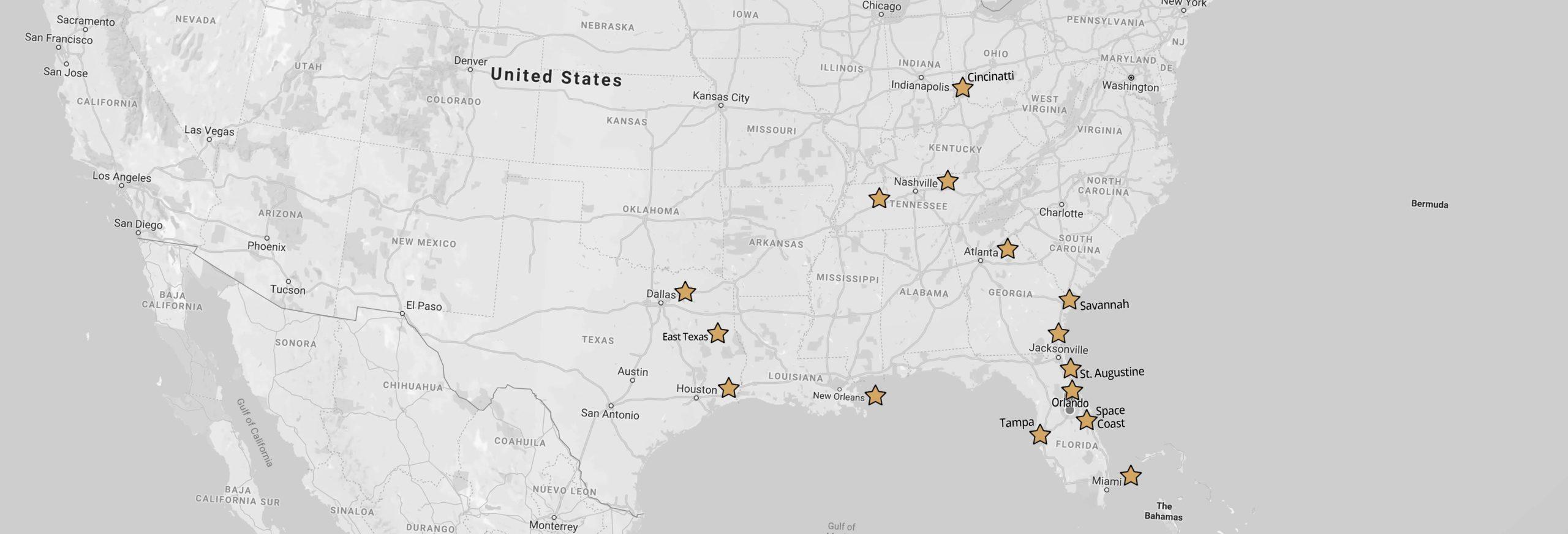 Sensational Ceremonies Map
